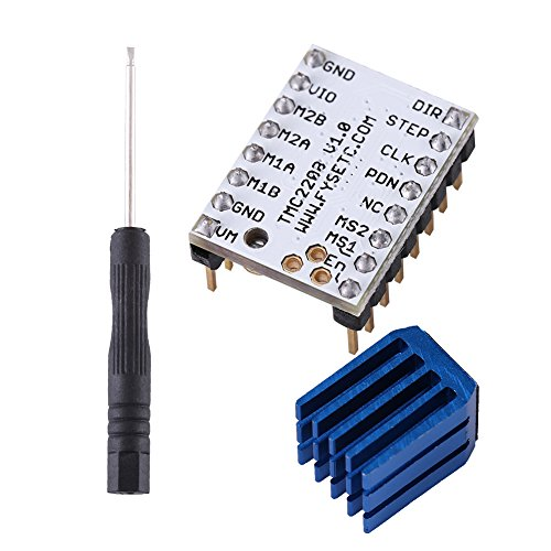 TMC2208 Stappenmotordriver voor 3D-printer, reserveonderdeel, 1 stuks, stappenmotor module stepstick met kop en schroevendraaier voor 3D-printer, hoofdprintprints, reprap, MKS, Prusa etc.
