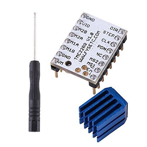 Riuty Stepper Motor,1Pcs TMC2208 Printer Driver Module Stepper Motor Driver Module 3D Printer Part Replacement With Heat Sink