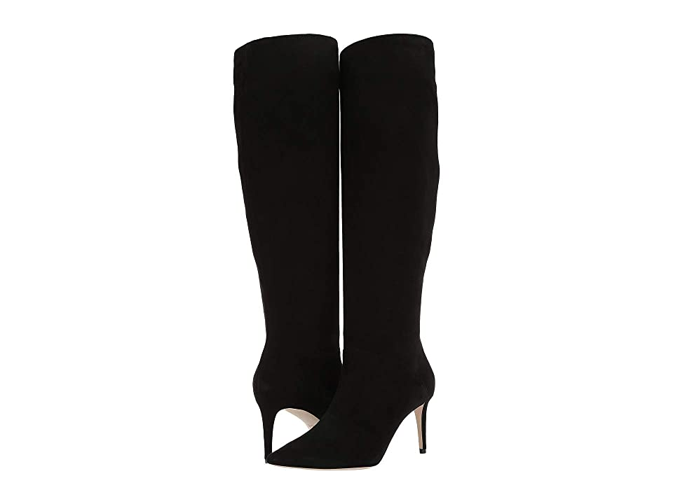L.K. Bennett Zena Pointed Toe Knee Boot (Black) Women