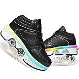 Led Luces Zapatos con Ruedas para Niños Y Niña Automática Calzado De Skateboarding Patines En Línea Brillante Aire Libre Y Deporte Gimnasia Running Zapatillas