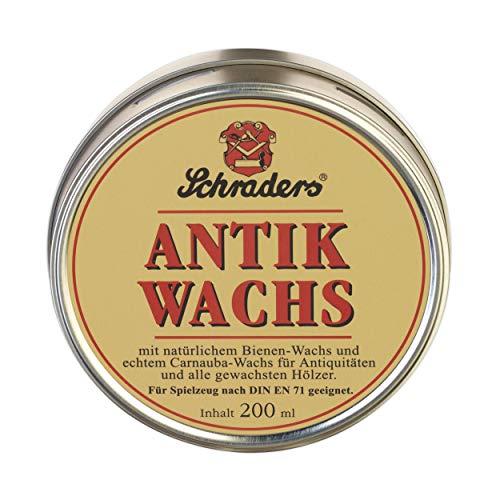 Poliboy Schraders Antik Wachs 200 ml - Pflegemittel für hochwertige, gewachste Oberflächen - Möbelwachs