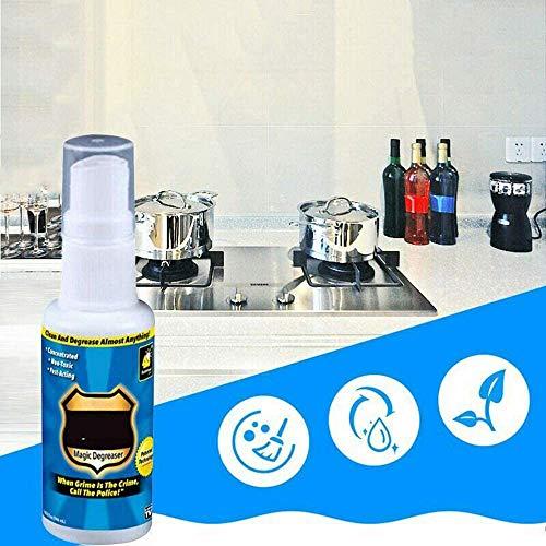 Magic Entfetter Reiniger Spray, Fett Spray schnell wirkender Reiniger multifunktionale Küche Bad Haushalt verdünnt Schmutz und Ölfleck 3PCS