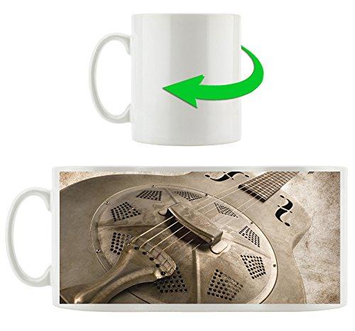 Dobro Gitarre, Motivtasse aus weißem Keramik 300ml, Tolle Geschenkidee zu jedem Anlass. Ihr neuer Lieblingsbecher für Kaffe, Tee und Heißgetränke.