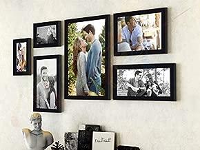 Art street - Triumphet set of 6 individual photo frames/ Wall hanging (Mix size -10x12, 6x10, 6x8, 4x6, Black)