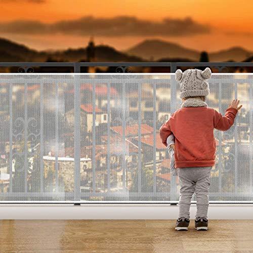3 Metros Red de Seguridad para Balcones,Red de Seguridad para Niños,Red de Protección del Balcón para Bebé Niños Mascotas,Red de Seguridad para Escaleras de Balcón (1)