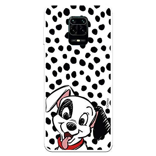 Funda para Xiaomi Redmi Note 9S - Note 9 Pro Oficial de 101 Dálmatas Cachorro Manchas para Proteger tu móvil. Carcasa para Xiaomi de Silicona Flexible con Licencia Oficial de Disney.