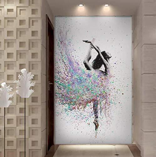 ZDFDC Resumen Elegante Bailarina Bailarina Ballet Girl Pintura sobre Lienzo Carteles e Impresiones Cuadro de Pared para Dormitorio Sala de Estar decoración-60x100cmx1 sin Marco