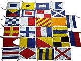 Marine U.S. Navy Signal Code FLAG Set - Set of 26 flag - Total 28 Flags – Nautical/Maritime Boat/Ship / Vessel/Nautical Décor (5113)