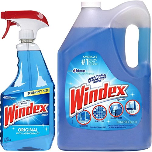 glass cleaners Windex Original Glass Cleaner Set: 5L refill +950 ml Trigger Spray