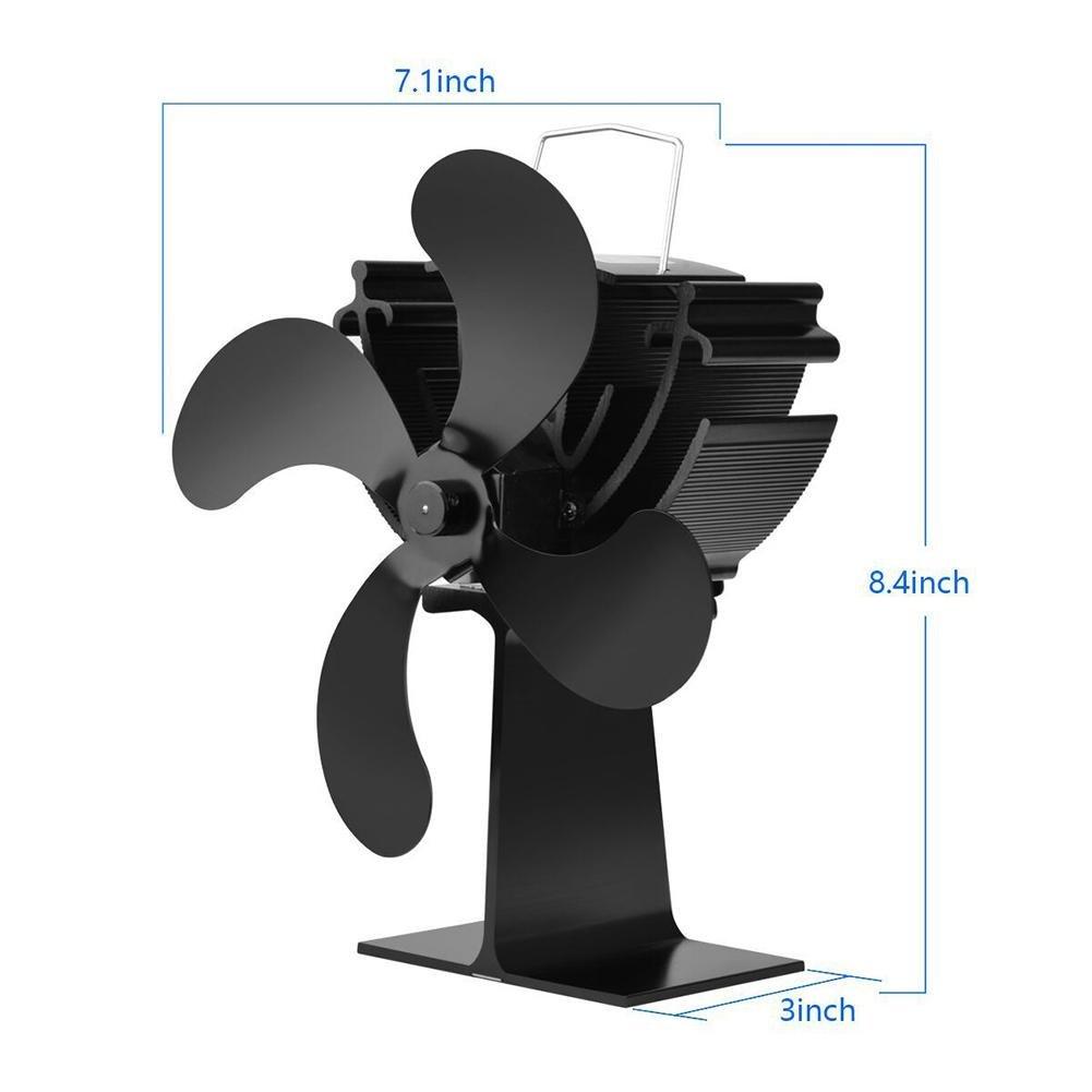 AUTOECHO Ventilador 4 aspas Que Funciona con Calor, Ultra ...