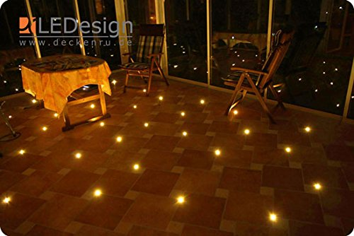 8x Fliesen LED 3mm Fuge Licht Beleuchtung inkl. Trafo Fugenlicht Kreuz Fliesenlicht (warm-weiß)