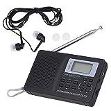 Portable FM/AM/SW Radio Multiband Digital Stereo Radio Receiver Earphone Output Time Display...