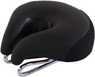 Gudessly Wide Bicycle Bike Seat No Nose Mountain Bike Saddle Comfortable Cycling Saddle Cushion High Resilience Breathable for Men
