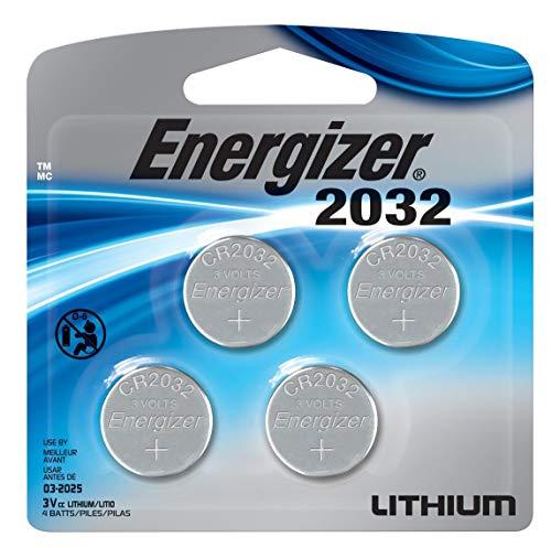 Energizer CR2032 zero mercury batteries, 3 Volts, 4 Batteries (Fresh)
