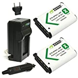 Wasabi Power NP-BX1 Battery (2-Pack) and Charger for Sony NP-BX1/M8, Cyber-Shot DSC-HX80, HX90V, HX95, HX99, HX350, RX1, RX1R II, RX100 (II/III/IV/V/VA/VI/VII), FDR-X3000, HDR-AS50, AS300, ZV-1, etc.