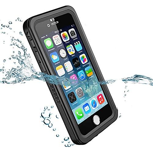 SGGFA 2M IP68 - Funda impermeable para iPhone 11 Pro Max XR X XS MAX SE a prueba de golpes para exterior para iPhone 7 8 6 6S Plus 5 5S (nido solo funda, material: para iPhone 8 Plus)