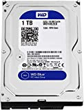 Western Digital Blue Desktop 1TB(1Terabyte) 3.5' Hard Disk Drive, 5400~7200RPM, SATA3 (6.0GB/s), 64MB Cache, Ideal for PC/Mac/CCTV/NAS/DVR/Raid and SATA Applications