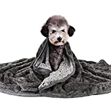 Waterproof Dog Blanket - Lightweight Pet Blanket with Reversible Sherpa, Fluffy Blanket for Dog & Cat Soft Plush Throw Blanket for Bed/Sofa/Couch Furniture Protector