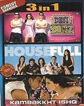 Desi Boyz/Housefull/Kambakkht Ishq Hindi Film / Bollywood Movie / Indian Cinema 3 in 1 - 100% Orginal Without Subtittle