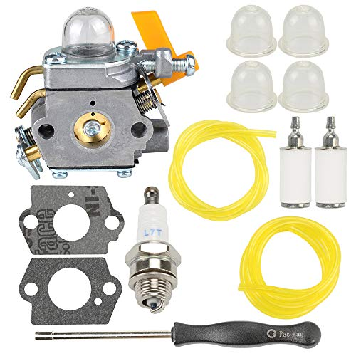 Venseri 308054013 C1U-H60 Carburetor for Ryobi Homelite 308054013 308054012 308054004 308054008 25cc 26cc 30cc String Trimmer Leaf Blower with Fuel Line Primer Bulb