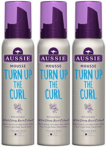 Aussie TURN UP THE CURL MOUSSE (pack of 3) 150ml each - See Curls Dance and...