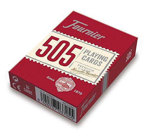 Fournier- Nº 505 Baraja Cartas Poker Clásica, Color rojo o azul (F21644) , color/modelo surtido
