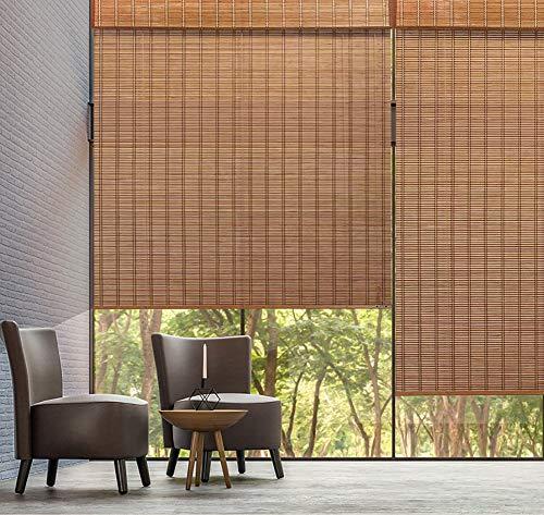 Bambusrollo Natürlicher Schatten Rolläden, Sonnenschutz wasserdicht Breathable Bambusschirme, Innen Außen Licht und Blendschutz (Size : W120cm X H120cm)