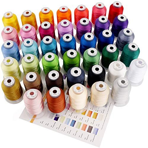 New brothread 40 Brother Farben Polyester Maschinen Stickgarn - 550yds (500 Meter) für Stickereimaschine und Nähmaschine