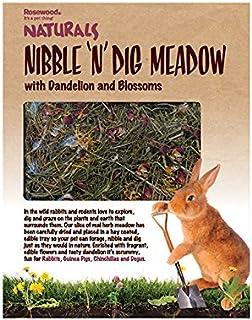 Rosewood Naturals Nibble 'n' Dig Meadow, Diente de león y Flores, para Animales pequeños