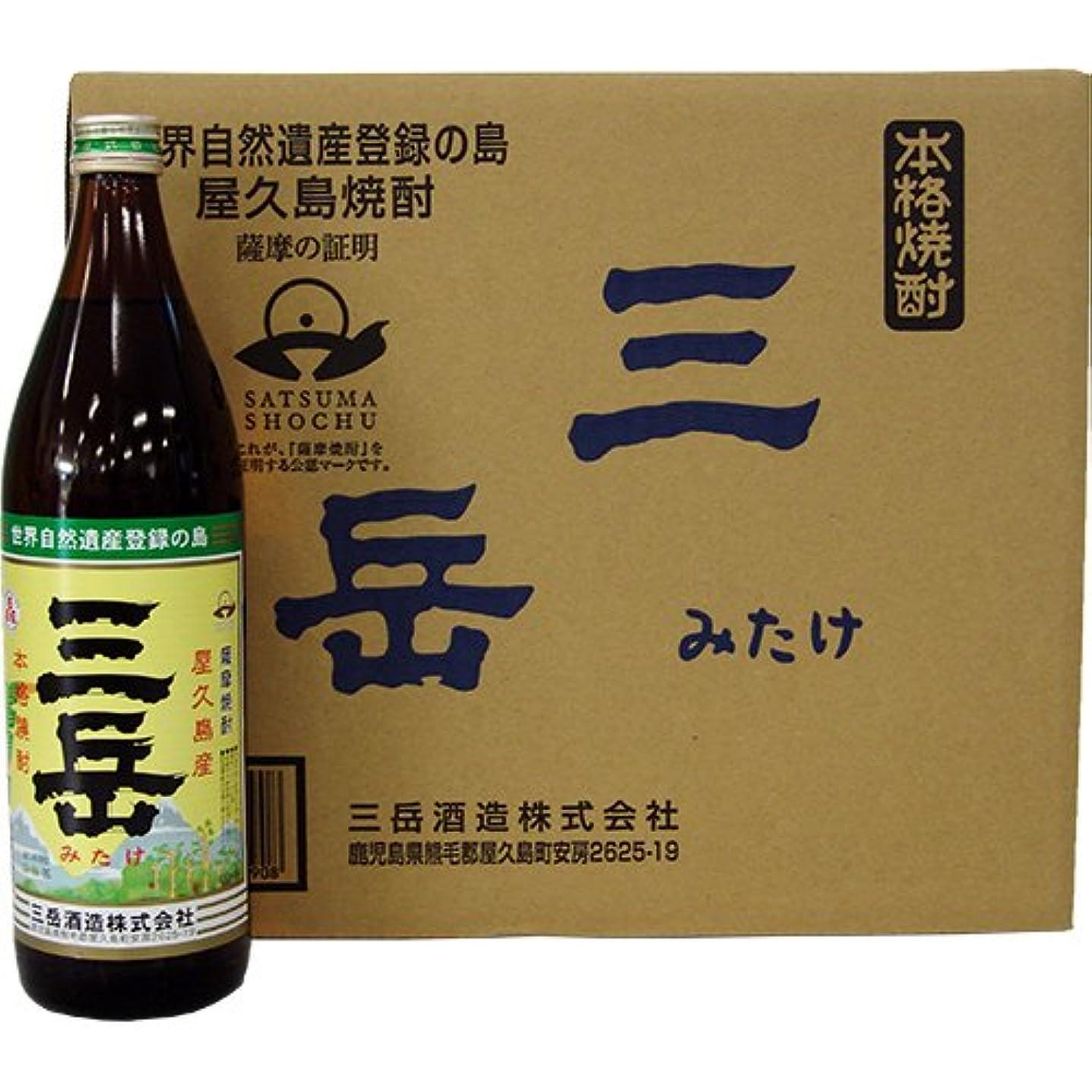 気絶させる闘争千本格芋焼酎 三岳 25度900ml瓶 1ケース(12本)
