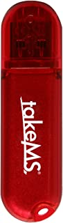 takeMS Colorline - Memoria USB de 64 GB, Rojo