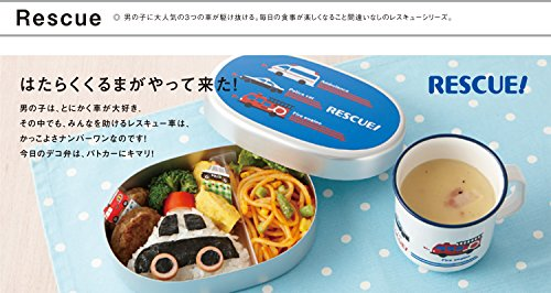 『クラフトレシピ キッズ デザートタイト はたらくくるま 電子レンジ対応 弁当箱 子供用 女の子 男の子 1段』の2枚目の画像