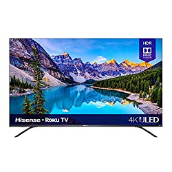 powerful 55-inch Hisense TV Class R8, Dolby Vision, Atmos 4K ULED Roku Smart TV and Alexa…