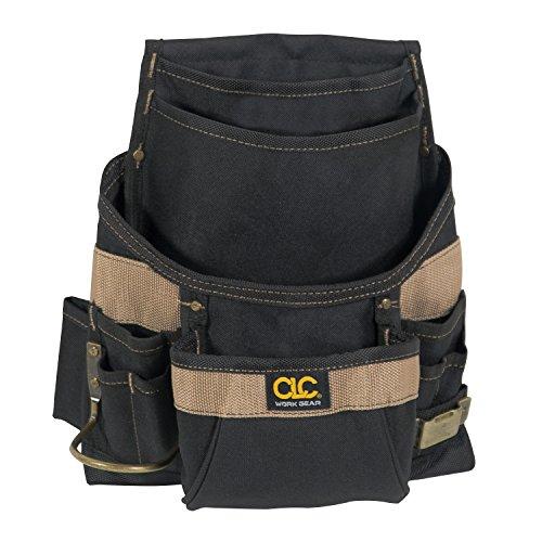 Custom Leathercraft 1620 Tool Bag, 11 Pockets, Steel Hammer Loop
