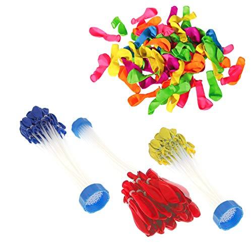XXL Wasserbomben Set | 111x Wasserbomben selbst-verschließend & 100x Wasserballons klassisch | Wasser-bomben bunt mit Füllhilfe ideal für Jungen & Mädchen bzw. als Beschäftigung für Kinder