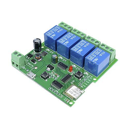 DIIMORE DX12971 Switch de auto-bloqueo de retardo inalámbrico Wi-Fi de 4 canales, 5-32V