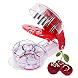Cherry Pitter - Professional Olive Pitter Tool, Cherry Stone Remover with Pit and Juice Container, 6...