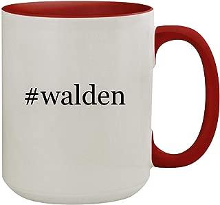 #walden - 15oz Hashtag Colored Inner & Handle Ceramic Coffee Mug, Red