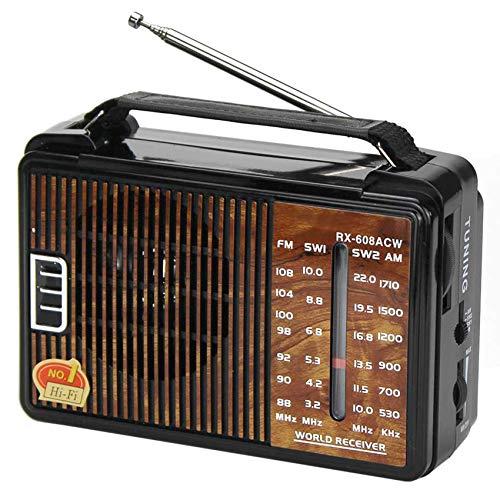 QAZ Radio Retro portátil, Radio FM Am SW1 SW2 de Alta sensibilidad de Canal Completo, Regalo de Radio de 4 Bandas para Personas Mayores