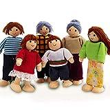 coil.c Happy Family Puppenhaus Set Von Hape | Puppenfamilien-Set, Einzigartiges Accessoire Für Das...