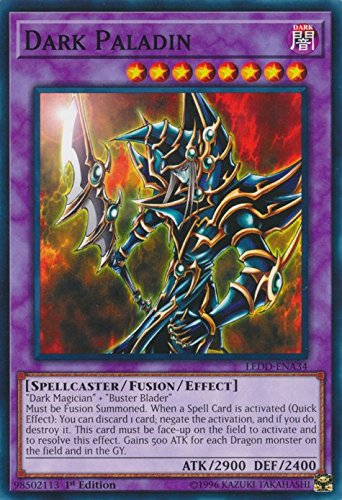 yu-gi-oh Dark Paladin - LEDD-ENA34 - Common - 1st Edition - Legendary Dragon Decks (1st Edition)
