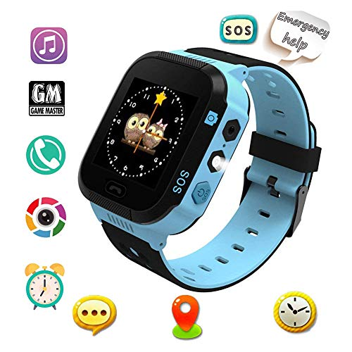 HGYYIO Smart Watch for Kids Watches for Kids with GPS, Feature Real Time Positioning SOS Emergency Alarm Voice Messages, The Best Birthday Gifts Ever