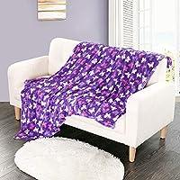 i-baby Ultra Soft Plush Kids Blankets Large Baby Blanket Flannel Infant Wrap Cozy Infant Swaddling 100x150cm (Purple...