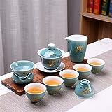 LEBAO Purple Clay Ceramica Te Taza Teteras Teteras Set Azul del Juego De Té De Kung Fu Ji Nueva Creative Business Regalo Promocional Aniversario De Calidad Cerámica Juego De Té