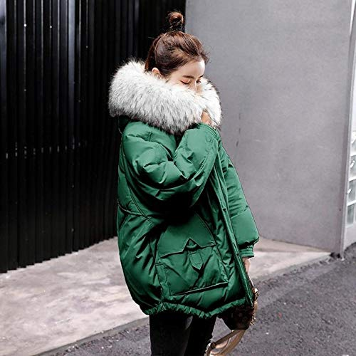 WFSDKN dames Parka 2019 New Winter donsjas dames Large Collar Hooded donsjas groen zwart parka dames warm snow overcoat
