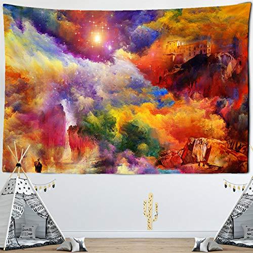 Tapiz de Nubes Coloridas espejismo para Colgar en la Pared, Manta de Alfombra de Playa de Arena, cojín Bohemio, Tienda de campaña, colchón de Viaje, decoración del hogar