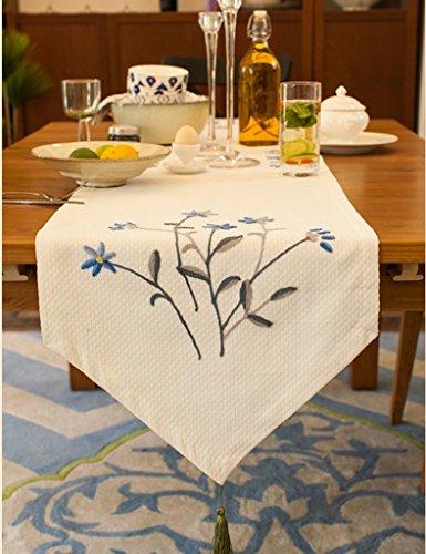 En touch av vinglas modern bordsflagga kaffe bordsduk konsol bordsflagga TV bänk tyg pianotäckt tyg och stilar (Storlek: 140 x 40 cm)