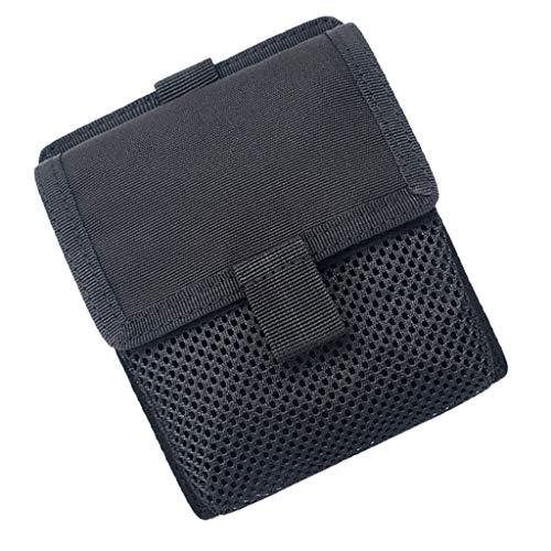 perfk Sac de Taille en Nylon Sac Compact Multi-usages Capacité de 0.5L - Noir, 15.5x13x4cm