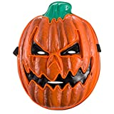 ANPHSIN Halloween LED Pumpkin Mask- Glowing EL Wire Pumpkin Light Up Cosplay Cushaw Mask Orange for Halloween Costume Party, Carnival, Masquerade, Festival Supply