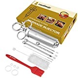 Stainless Steel Meat Injector Kit - Professional Quality Marinade Injector Syringe to add Flavor to...